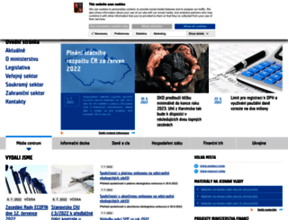 mfcr.cz screenshot