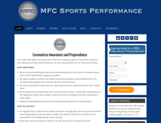 mfcsportsperformance.com screenshot