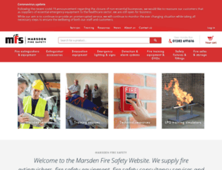 mfs-fire-extinguishers.co.uk screenshot