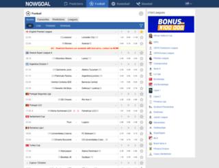 mg146.nowgoal.com screenshot
