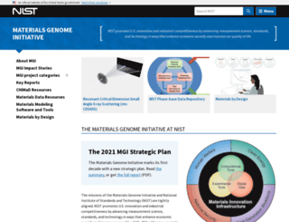 mgi.nist.gov screenshot