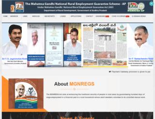 mgnregs.ap.gov.in screenshot