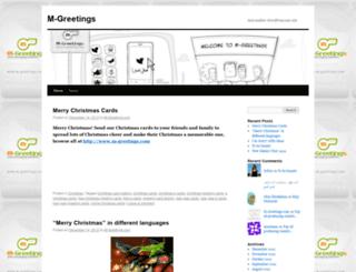 mgreetings.wordpress.com screenshot
