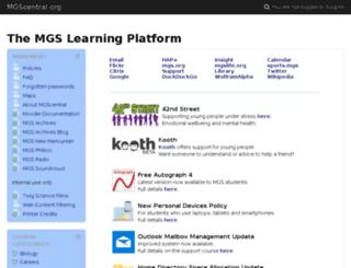 mgscentral.org screenshot