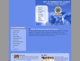 mgupharma.edu.in screenshot