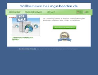 mgv-beeden.de screenshot