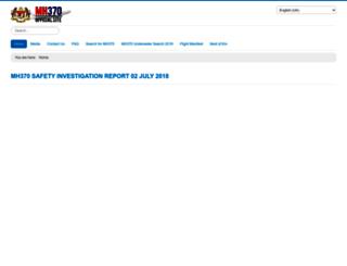 mh370.gov.my screenshot