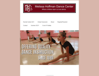 mhdancecenter.com screenshot