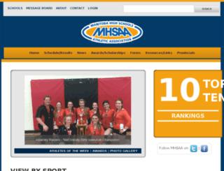 mhsaa.mb.ca screenshot