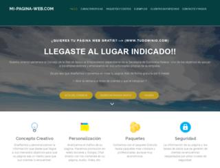 mi-pagina-web.com screenshot