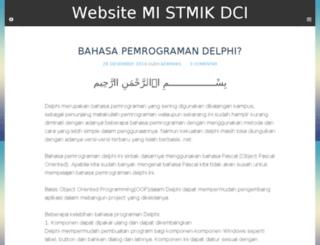 mi.stmik-dci.ac.id screenshot