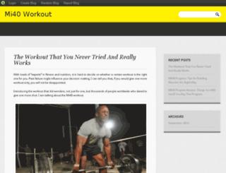mi40workout.blog.com screenshot