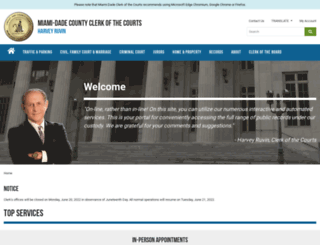 miami-dadeclerk.com screenshot