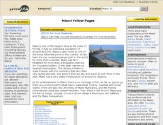 miami-fl.yellowusa.com screenshot
