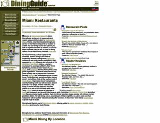 miami.diningguide.com screenshot