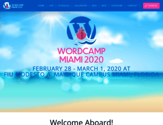 miami.wordcamp.org screenshot