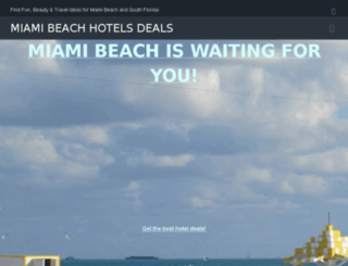 miamibeachhotelsdeals.com screenshot