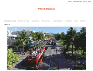 miamidoubledecker.com screenshot