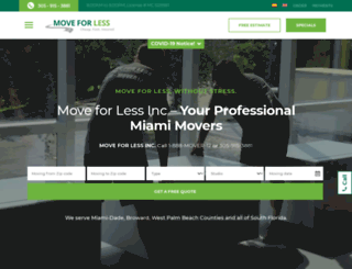 miamimoversforless.com screenshot