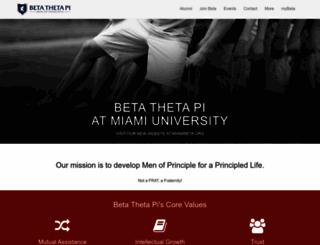 miamioh.beta.org screenshot