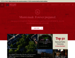 miamioh.edu screenshot