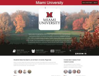 miamioh.meritpages.com screenshot