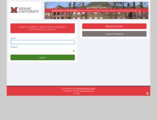 miamioh.sona-systems.com screenshot