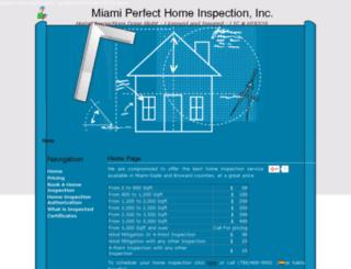 miamiperfecthomeinspection.com screenshot