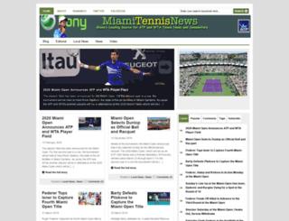 miamitennisnews.com screenshot
