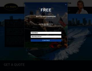 miamiyachtcharters.net screenshot