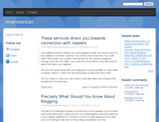 miannoncer.drupalgardens.com screenshot