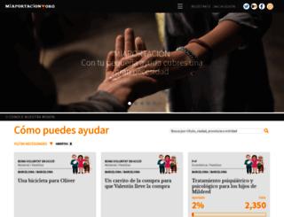 miaportacion.org screenshot