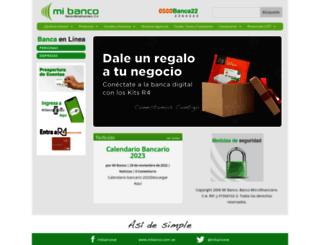 mibanco.com.ve screenshot