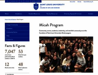 micah.slu.edu screenshot