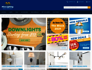 micalighting.com.au screenshot