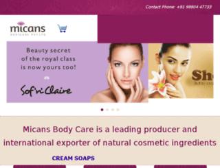 micansbodycare.com screenshot