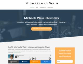 michaela-wain.co.uk screenshot