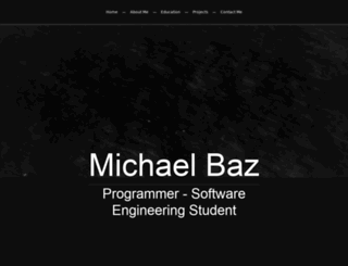 michaelbaz.net screenshot