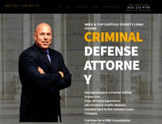 michaelbrownlaw.com screenshot