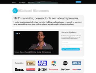 michaeldsimmons.com screenshot