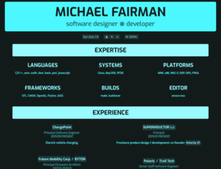 michaelfairman.com screenshot