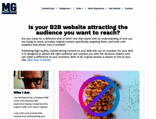 michaelgrover.com screenshot