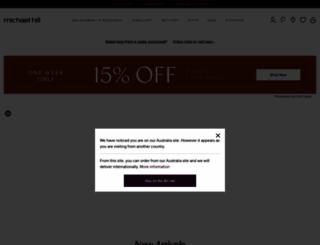 michaelhill.com.au screenshot