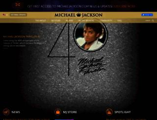 michaeljackson.com screenshot