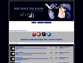 michaeljackson.forumattivo.com screenshot
