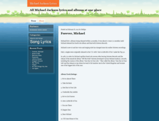 michaeljacksonlyrics.wordpress.com screenshot