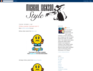 michaeljacksonstyle.blogspot.co.uk screenshot