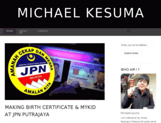 michaelkesuma.wordpress.com screenshot