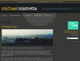 michaelmistretta.com screenshot