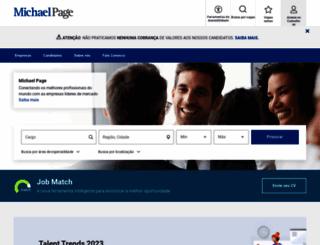 michaelpage.com.br screenshot